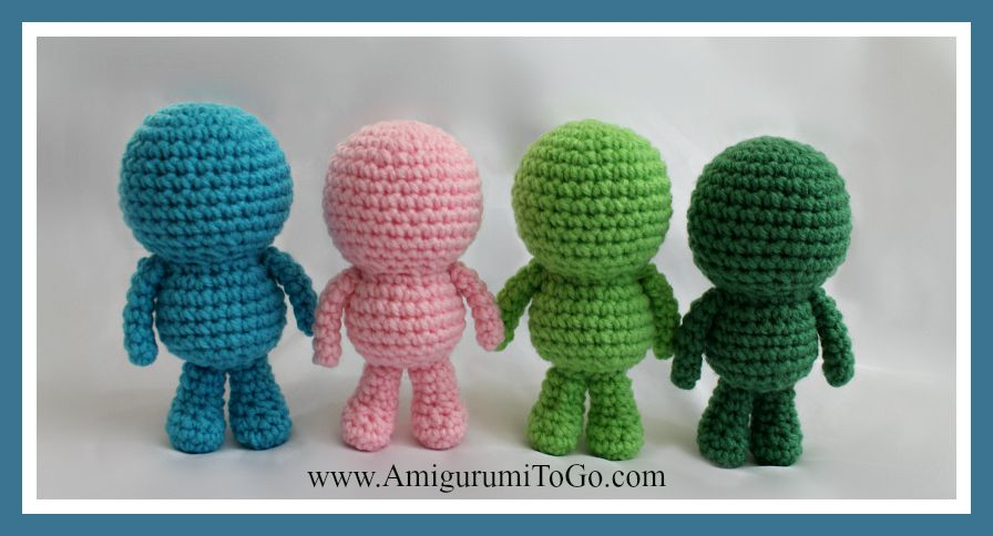 Amigurumi Crochet Basics : Wee Bits Basic Body Pattern ~ Amigurumi To Go