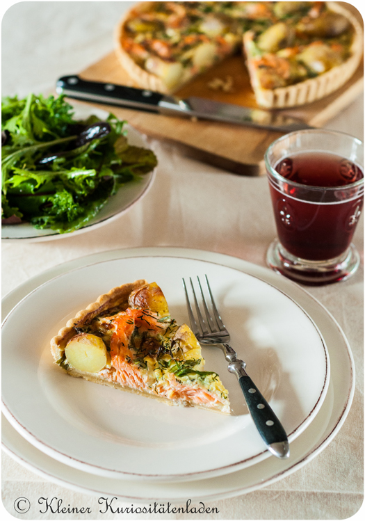Lachs-Kartoffel-Tarte