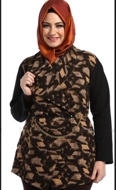 model baju gamis batik untuk orang gemuk