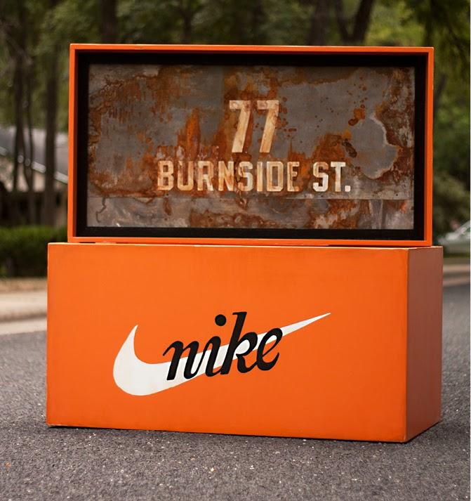 todayshype  nike wooden shoe box by robb harskamp