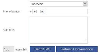 SMS Gratis via Internet Online dan Facebook