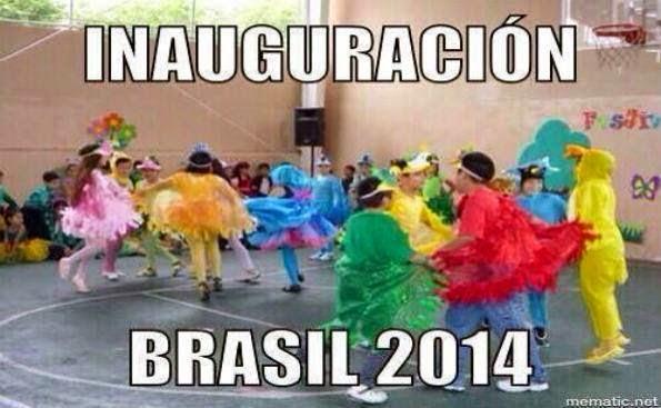 Humor Inauguración mundial Brasil 2014
