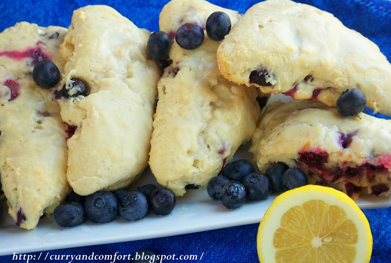 Kitchen Simmer: Blueberry Scones with Lemon Glaze -Recipe Redo