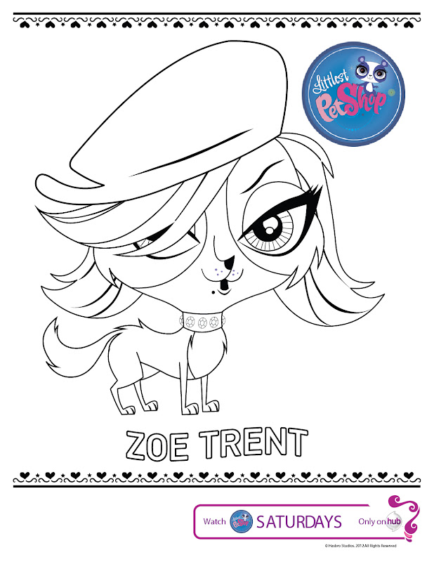 littlest pet shop coloring pages zoe trent littlest pet shop title=