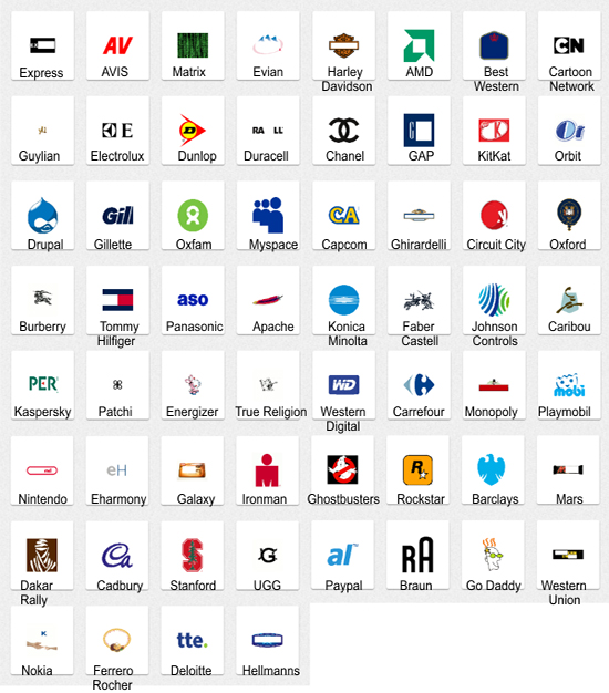 Images Of Brand Logos Quiz With Names Spacehero