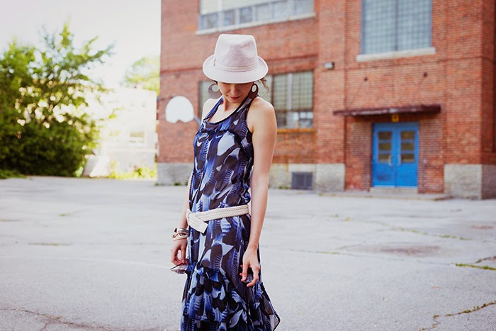 Flutter-boho-maxi-dress-fedora