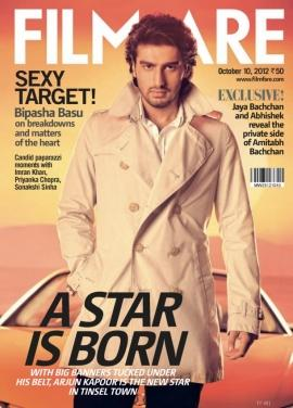 Arjun Kapoor on the cover page of Filmfare - Oct 2012
