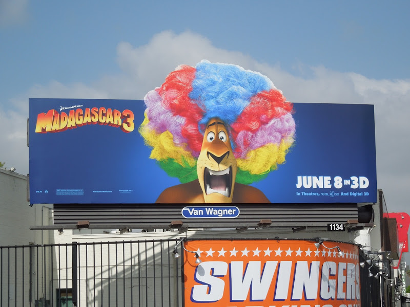 Alex Lion Madagascar 3 movie billboard