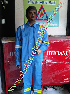 BAJU PEMADAM BAHAN FIRE RETARDANT COTTON 100%
