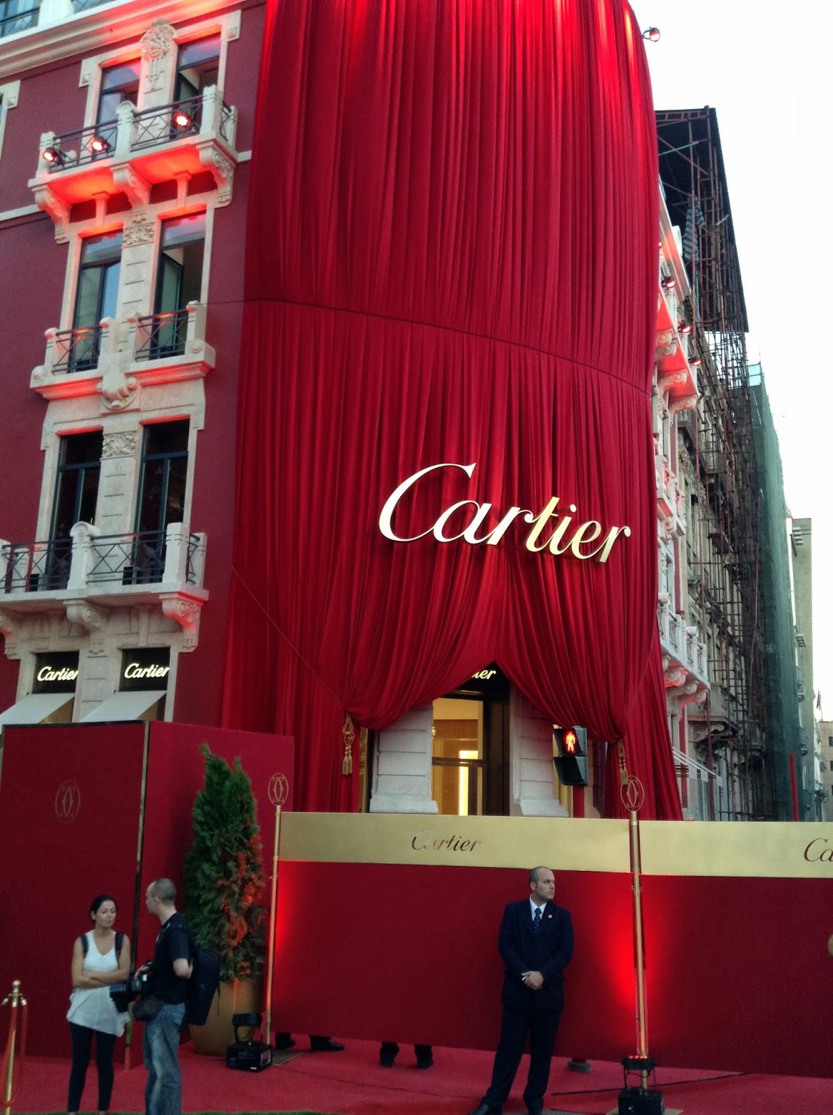 408bd35f23f Estação Cronográfica  Na inauguração oficial da Boutique Cartier em ...