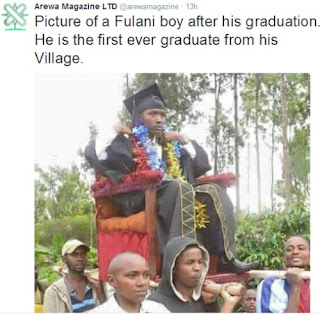 Check Out How They Treated This Fulani Boy Who Just Graduated From School (Photo)
