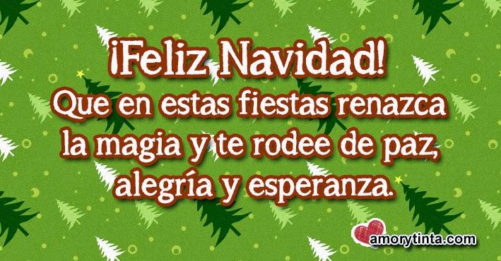 frase de navidad con fondo verde con arboles de navidad