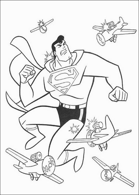 Free Superman Coloring Pages For Boys title=