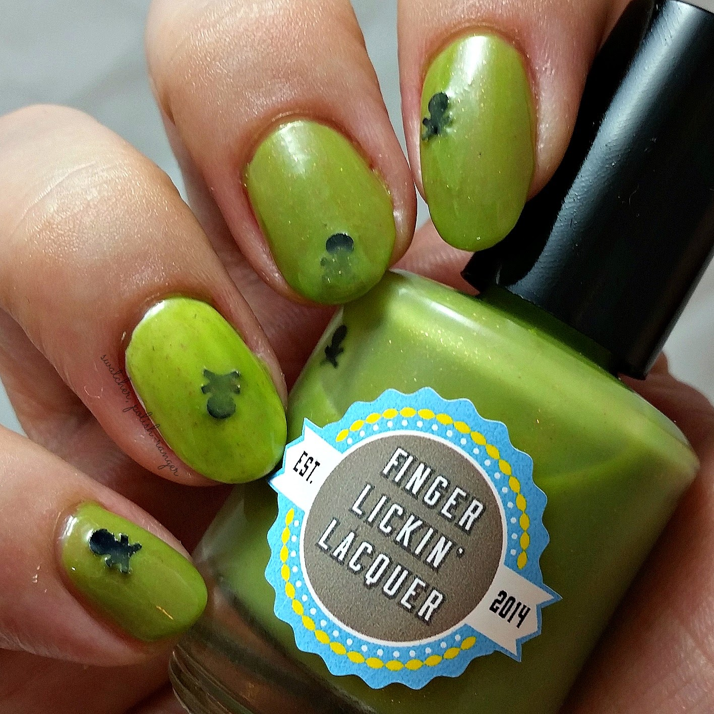 swatcher, polish-ranger | Finger Lickin Lacquer Poison Apple swatch