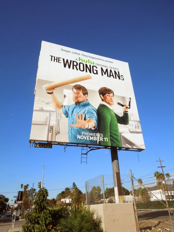 The Wrong Mans series premiere billboard