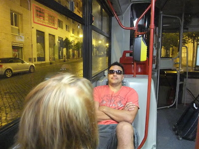 bus ride to termini station, rome italy