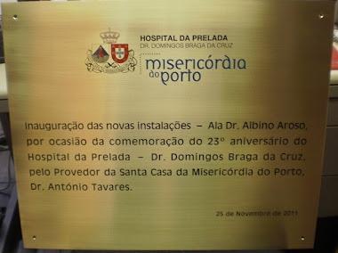 PLACAS DE INAUGURAÇÃO EM LATÃO SANTA CASA VALINHOS-SP