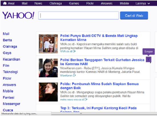 Mesin pencarian Yahoo