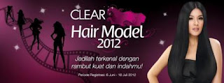 CLEAR Hair Model 2012 dunialombaku.blogspot.com