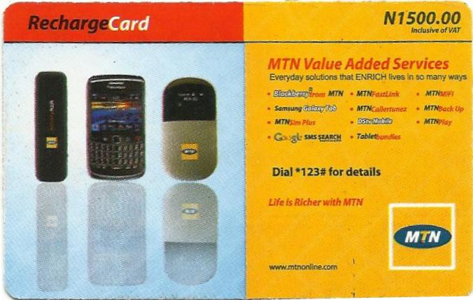 ... Gist: Free Airtime: The The First To Load This MTN 1500 Recharge Card