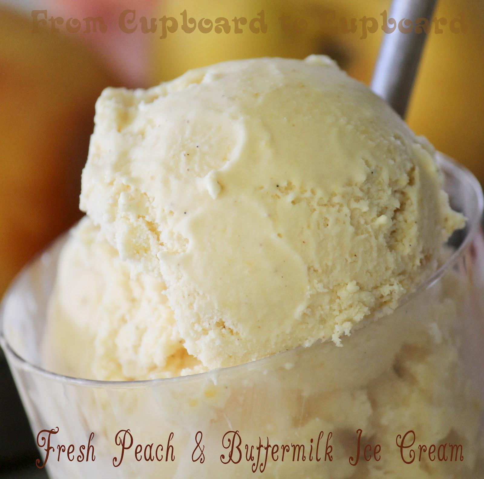 ... ice cream peach ice cream roasted strawberry and buttermilk ice cream