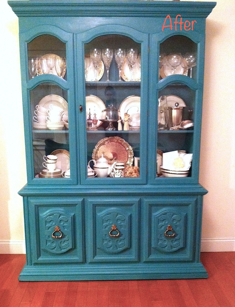 Chalk Paint China Cabinet Redo