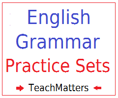 image : English Grammar Practice Sets @ TeachMatters