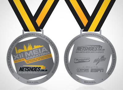 Medalha Meia Maratona Corpore 2011