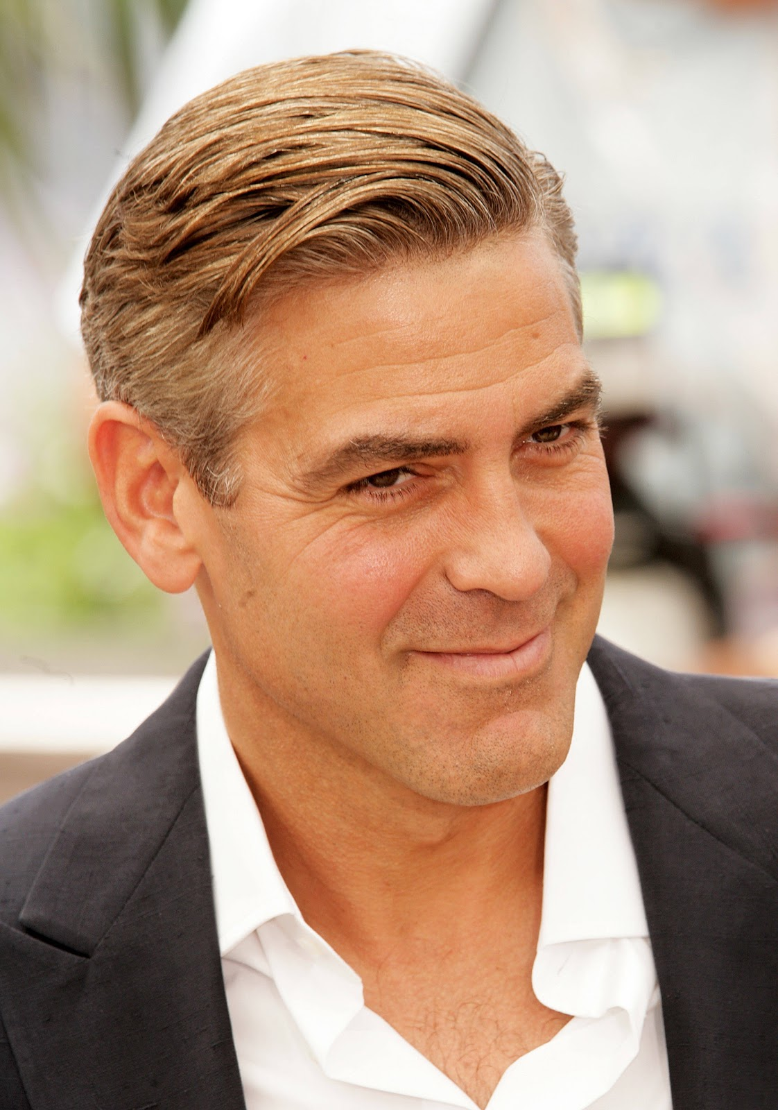 George Clooney Cool Short Hairstyle title=