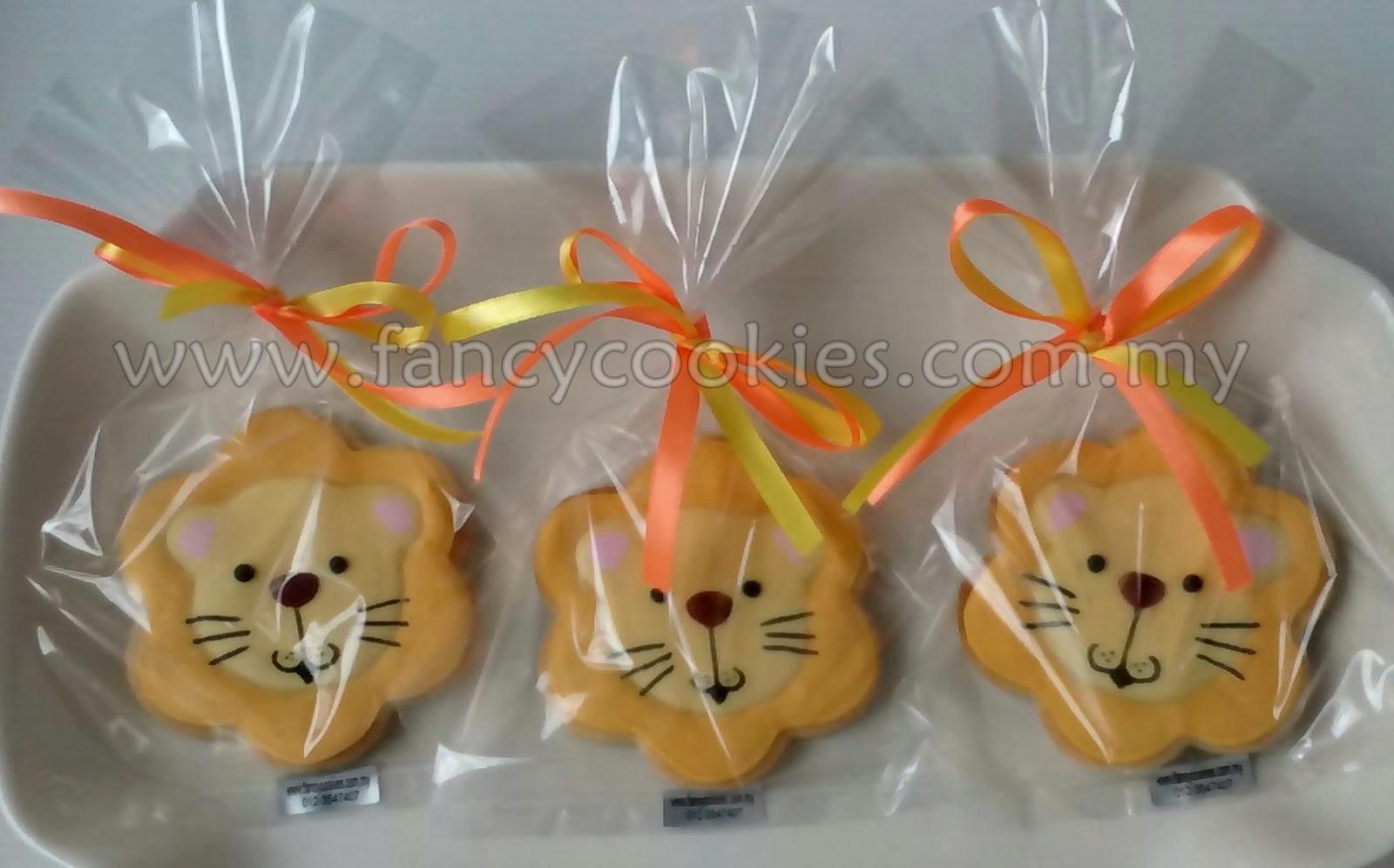 fancy cookies lion - singa