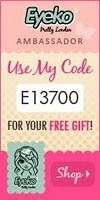get gorgeous makeup at eyeko,and use my code a checkout ♥