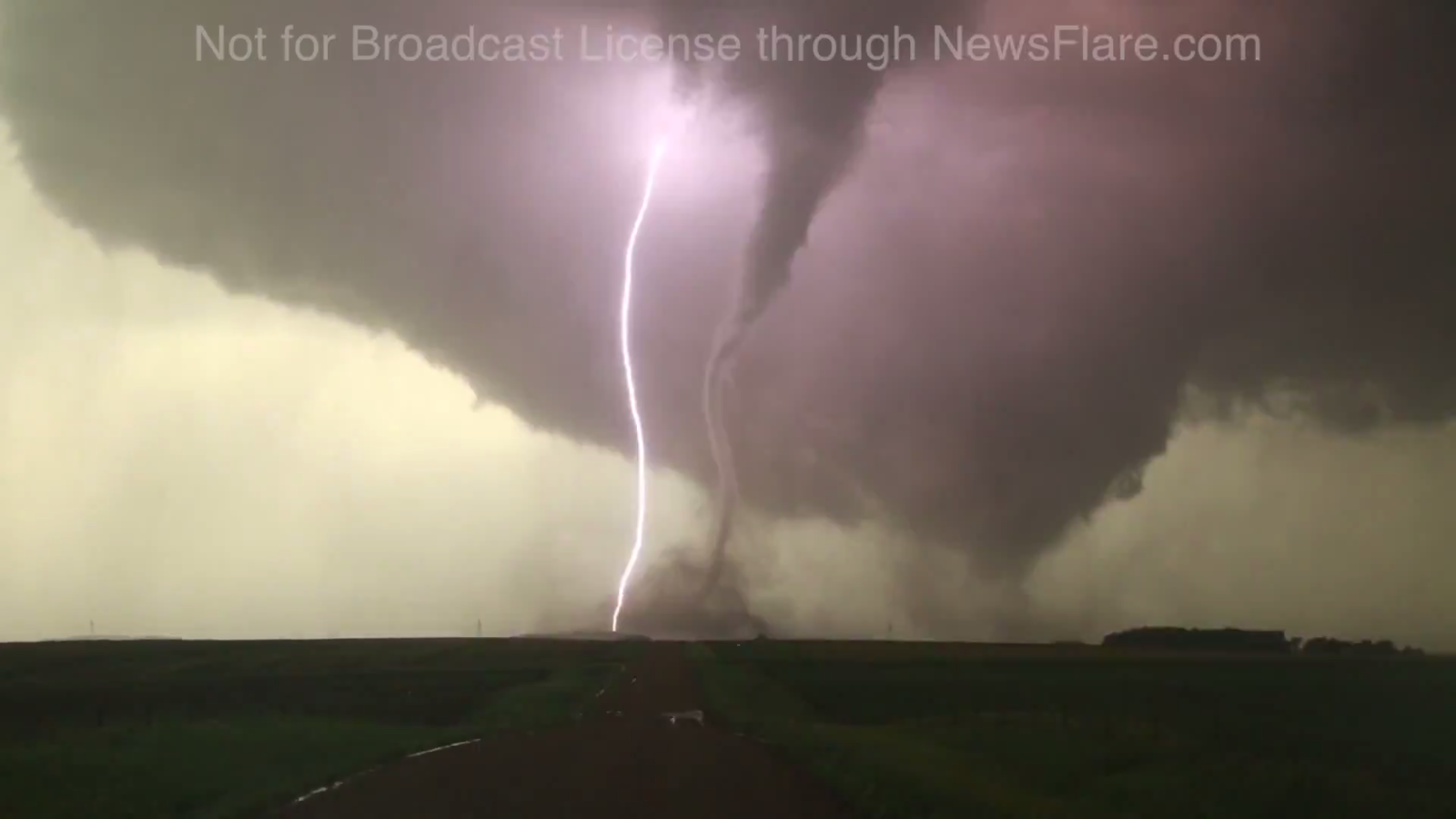 Tornado and Lightning in Nebraska