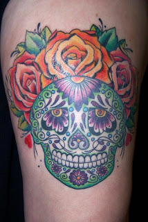 new tattoo pictures sugar skull tattoo. Black Bedroom Furniture Sets. Home Design Ideas