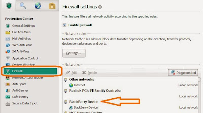 BlackBerry in firewall