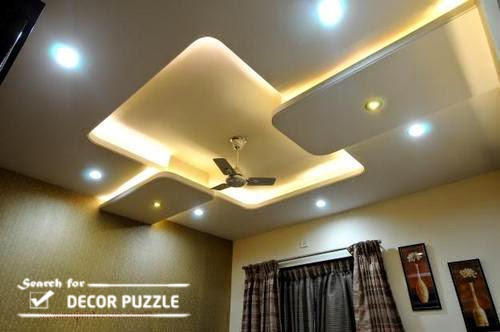 Pop designs for roof false ceiling led lights for living room for Room roof design images