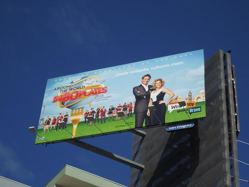 Around the World in 80 Plates billboard