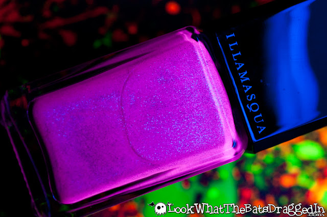 Illamasqua Paranormal Seance nail polish collection swatch UV glow