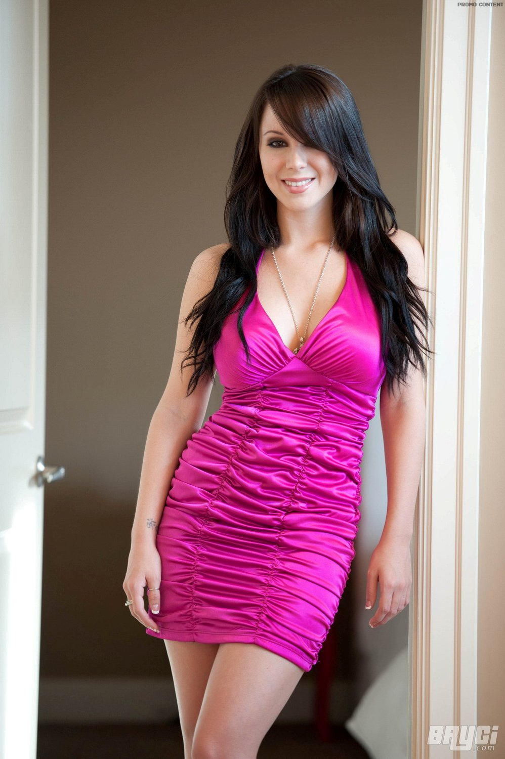 Bryci In Pink And Black Dress