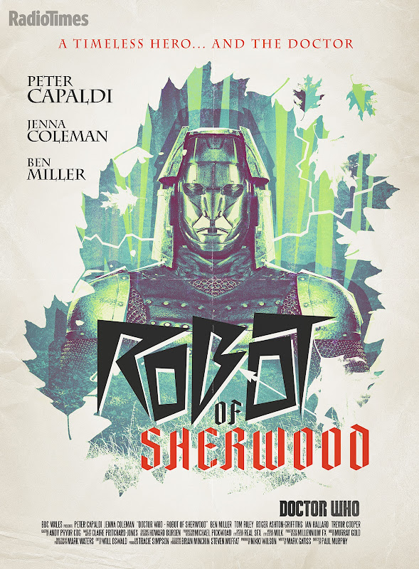 Doctor Who Robot of Sherwood retro poster