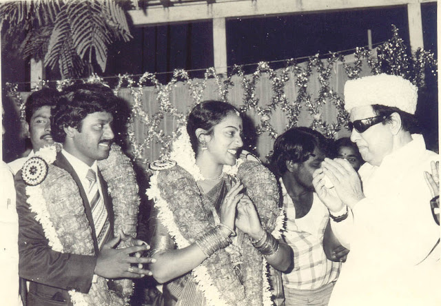 'Ponmana Chemmal' MGR in Ramarajan - Nalini Marriage Function