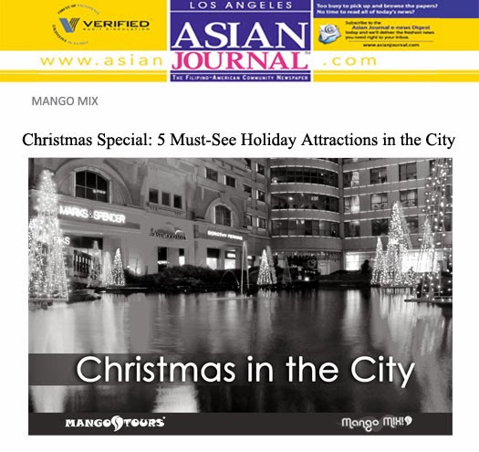 Mango Mix Christmas City Attractions Eastwood Mango Tours