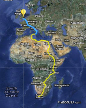 Cape Town to London Run