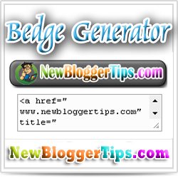 Badge widget generator for your Website Blog