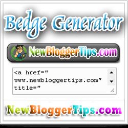 Badge widget generator for your Website Blog