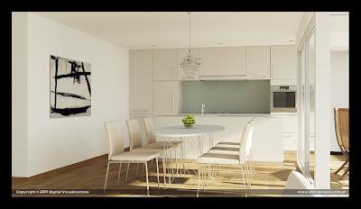 diseño de comedor moderno elegante