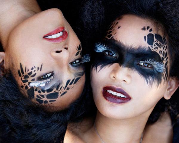 Awesome Art and Model: Halloween: Creative Black Makeup - Black Halloween Makeup