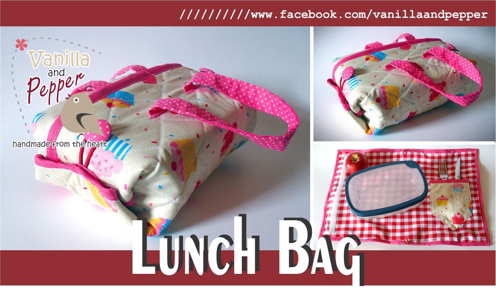Bolsa Lancheira De Tecido : Vanilla and pepper bolsas e acess?rios artesanais lunch bags