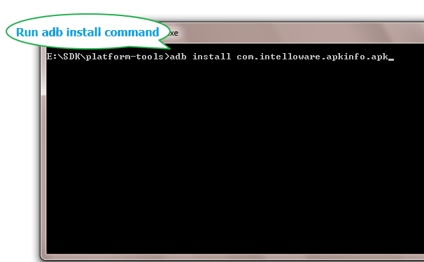 install apk on android command line
