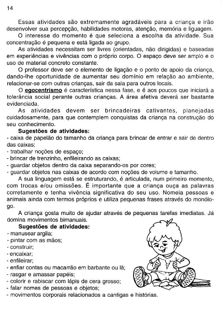 Preferência PROJETO SOCIALIZAÇÃO MATERNAL 1 E 2 | Cantinho do Educador Infantil QO09