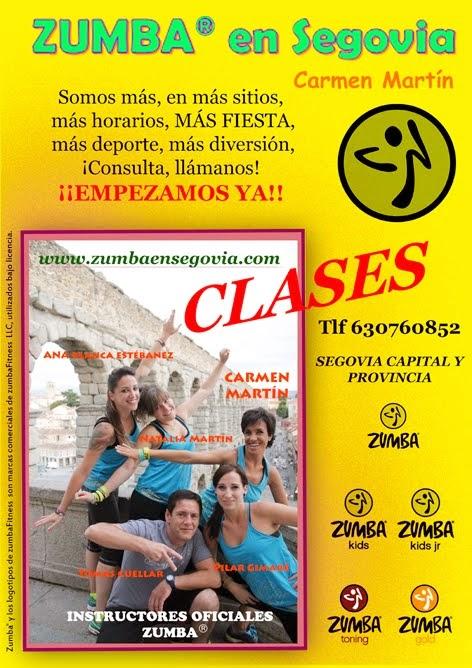 CLASES ZUMBA® con ZUMBA® en Segovia - Carmen Martin